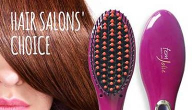 Femjolie hair straightener brush